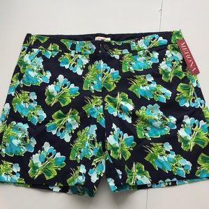 Merona Shorts - NWT Merona navy floral cotton Bermuda shorts